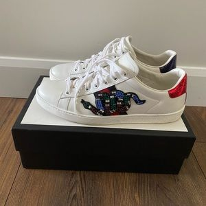 Authentic Gucci Ace Kingsnake Sneakers, 9,5